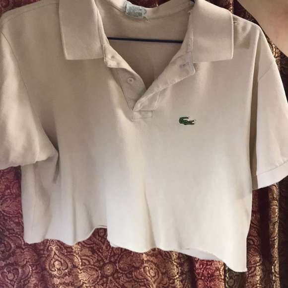 Lacoste Tops - Cropped Lacoste Polo